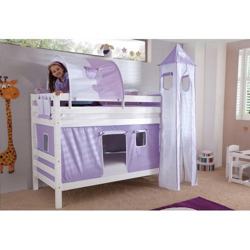 Relita Etagenbett, Set 4-tlg. lila Kinder Etagenbett Kinderbetten Kindermöbel