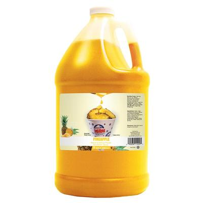 Gold Medal 1229 Pineapple Snow Cone Syrup, Ready-To-Use, (4) 1 gal Jugs