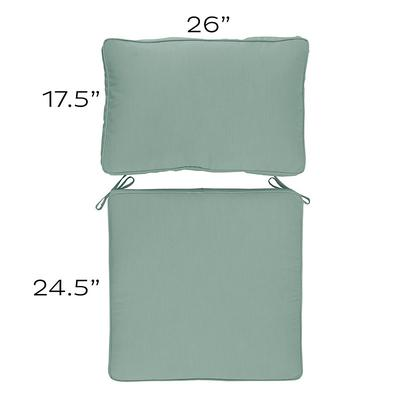 Replacement Seat and Back Cushion Set - 26x42 Canvas Sand Sunbrella - Ballard Designs