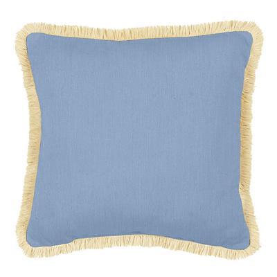 Fringed Pillow 12 inch x 20 inch Canvas Sand Sunbrella - Ballard Designs