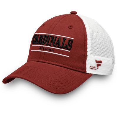 Men's Arizona Cardinals NFL Pro Line by Fanatics Branded Cardinal/White Primary Bar Trucker Adjustable Hat