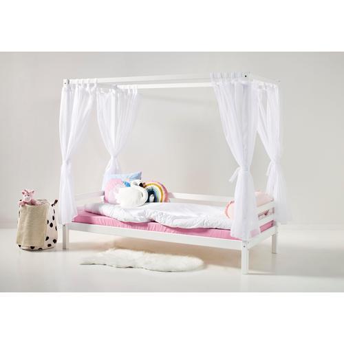 Hoppekids Betthimmel, inkl. 4 Vorhängen für Sofabett weiß Kinder Betthimmel Kindermöbel Möbel sofort lieferbar