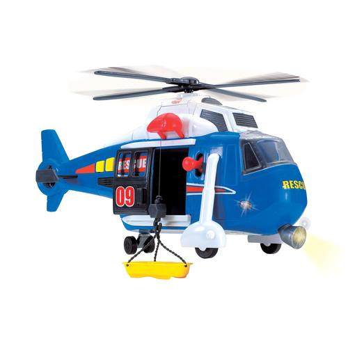 Dickie Toys Spielzeug-Hubschrauber, mit drehbarem Rotor, Licht und Sound blau Kinder Ab 3-5 Jahren Altersempfehlung Spielzeug-Hubschrauber