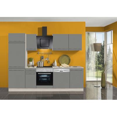 OPTIFIT Küchenzeile Bern, ohne E-Geräte, Breite 270 cm, mit höhenverstellbaren Füßen, gedämpfte Türen und Schubkästen, Metallgriffe grau Küchenzeilen Küchenblöcke Küchenmöbel Möbel sofort lieferbar