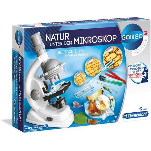 Clementoni Kindermikroskop Galileo - Natur unter dem Mikroskop, Made in Europe weiß Kinder Ab 9-11 Jahren Altersempfehlung
