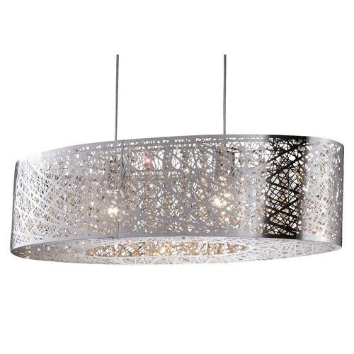 Pendelleuchte, E27, moderne Hängeleuchte, Hängelampe Glaskristalle silberfarben Deckenleuchten SOFORT LIEFERBARE Lampen Leuchten Pendelleuchte