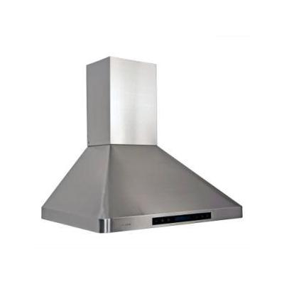 """30"""" Stainless Steel Wall Mount Range Hood With Adjustable Airflow Dishwasher Safe Three Stainless St"""