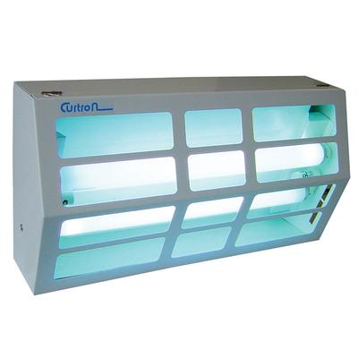 Curtron BL300 Powder-Coated Silent Fly Trap w/ 80 Watt UV Light, Covers 1800 sq ft, White