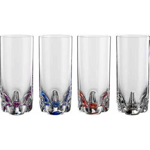 BOHEMIA SELECTION Longdrinkglas BAHAMA, (Set, 4 tlg.) farblos Kristallgläser Gläser Glaswaren Haushaltswaren
