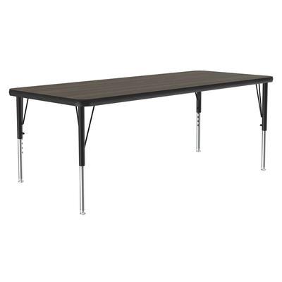 """Correll A2460-REC 01 Activity Table w/ 1 1/4"""" High Pressure Top, 60""""W x 24""""D, Walnut"""