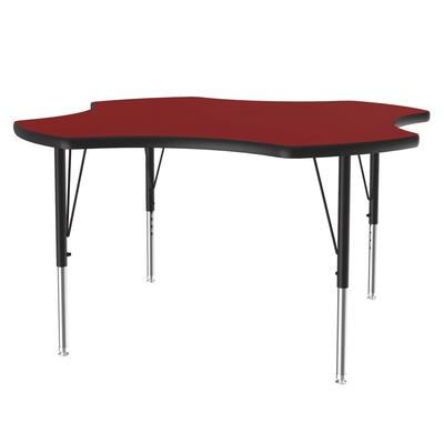 """Correll A48-CLO 35 Activity Table w/ 1 1/4"""" High Pressure Top, 48""""W x 48""""D, Red"""