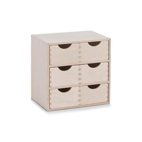 Zeller Present Schubladenbox, Breite 28 cm beige Schubladenkommoden Kommoden Sideboards Schubladenbox