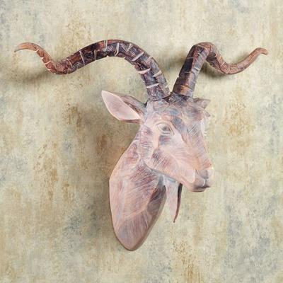 Antelope Head Wall Art Beige/Brown , Beige/Brown