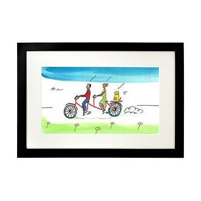 Personalized Couple Tandem Bike Art