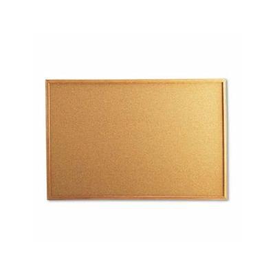"""Universal Cork Bulletin Board, 36 X 24, Natural, Oak-Finished Frame (Unv43603)"""