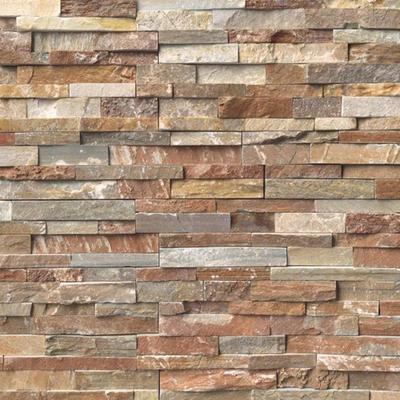 """MS International Golden White Ledger Panel 6"""" x 24"""" Natural Slate Wall"""