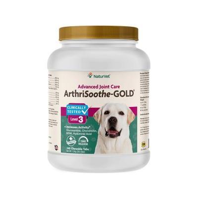 NaturVet ArthriSoothe-GOLD Hip & Joint Stage 3 Advanced Formula Dog & Cat Tablets, 240 count