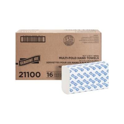 """Genuine Joe Multi-Fold White Paper Towels, 4,000 Towels (Gjo21100)"""