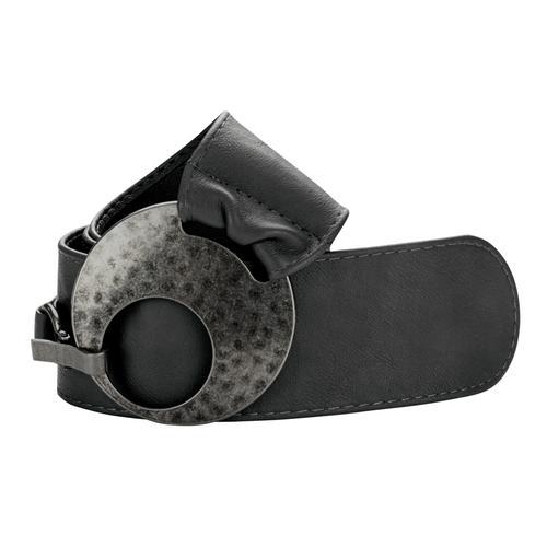 heine Synthetikgürtel, in breiter Form schwarz Damen Breite Gürtel Accessoires Synthetikgürtel