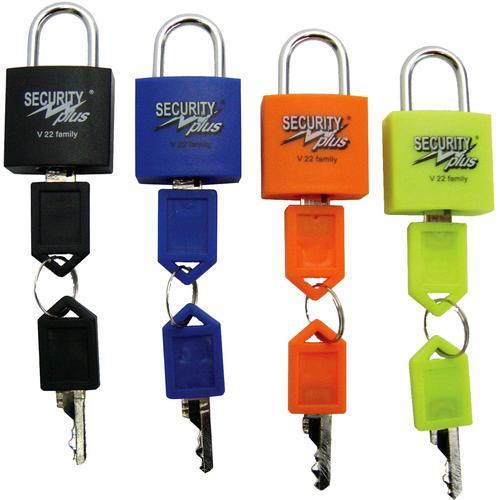 Security Plus Vorhängeschloss SECURITY plus Familien 4er Schloss-Set schwarz Rad-Ausrüstung Radsport Sportarten