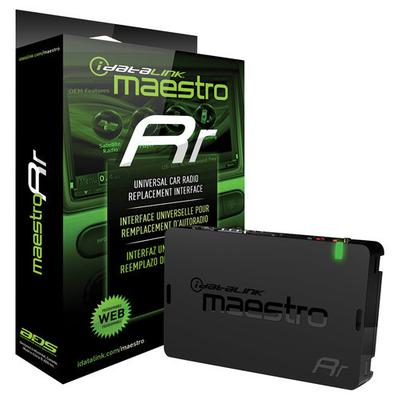 Maestro Radio Replacement and Steering Wheel Interface for Select Vehicles - Black - ADS-MRR