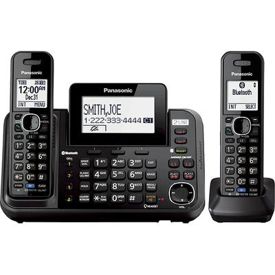 Panasonic Link2Cell DECT 6.0 Expandable Cordless Phone with Digital Answering System and Bluetooth