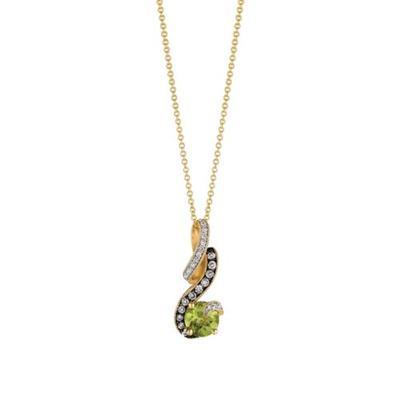 Le Vian 14k Honey Gold™ Green Apple Peridot™, Chocolate Diamond and Vanilla Diamond™ Pendant