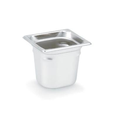 Vollrath Super Pan III, Sixth Size Pan, 8 in Deep, Stainless, NSF