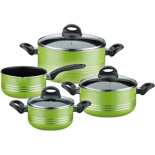 GSW Topf-Set Milano color, Leichtmetall-Legierung, (Set, 7 tlg.), Induktion grün Topfsets Töpfe Haushaltswaren
