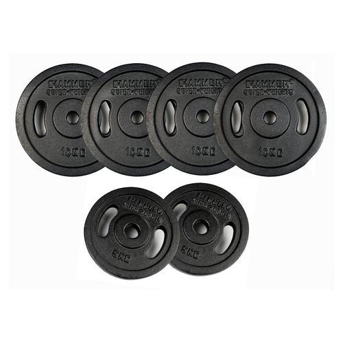 Hammer Gewichteplatten Gewichte-Set, Hammer, (Set, 8 tlg.) schwarz Fitness Ausrüstung Sportarten Gewichteplatte