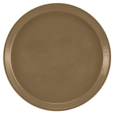 """Cambro 1000513 10"""" Round Serving Camtray - Bay Leaf Brown"""