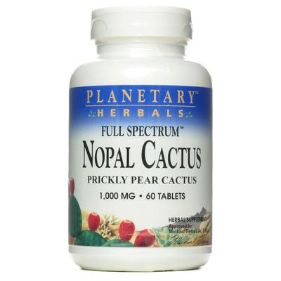 Planetary Herbals Full Spectrum Nopal Cactus -- 1000 mg - 60 Tablets