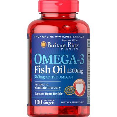 Puritan's Pride 2 Pack of Omega-3 Fish Oil 1200mg-100-Softgels