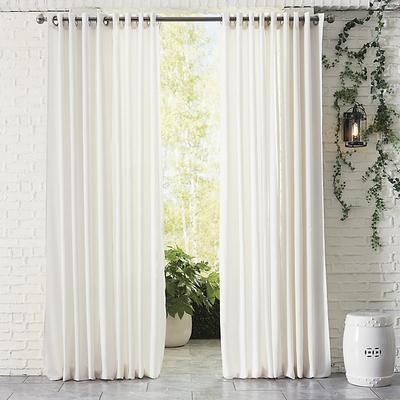 """Indoor/Outdoor Sheer Panel White 96"""" - Ballard Designs"""