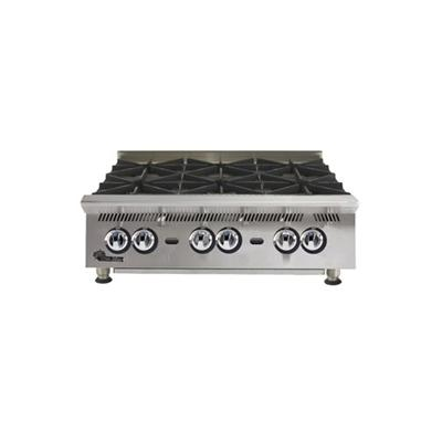 "Star Ultra Max 36"" W 180,000 BTU 6 Burner Countertop Hot Plate (806HA) - Stainless Steel"