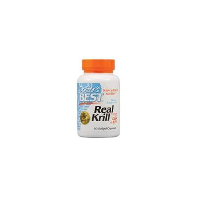 Doctor's Best Real Krill Enhanced with DHA and EPA - 60 Softgels