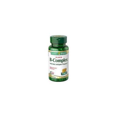 Nature's Bounty Super B-Complex with Folic Acid plus Vitamin C - 150 Tablets