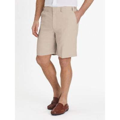 Men's Adjust-A-Band Relaxed-Fit Microfiber Shorts, Stone Grey 38