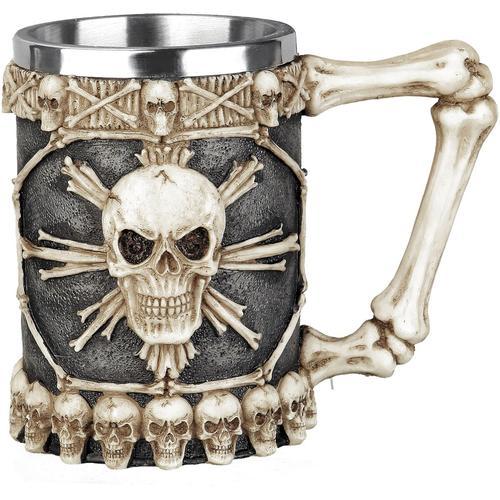 Nemesis Now Tankard of skulls Bierkrug - schwarz