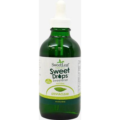 Sweet Leaf Stevia Liquid Extract Sweet Drops Sweetener-4 fl oz Liquid