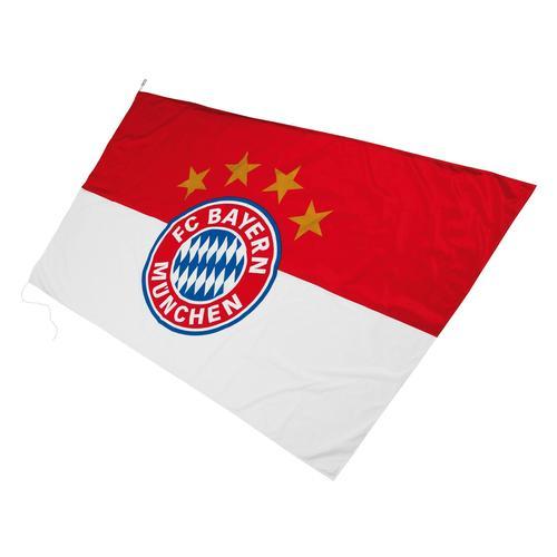 FC Bayern Fahne Hissfahne mit Logo rot Kinder Bundesliga-Fanshop Fanartikel