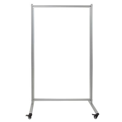 """Luxor MD4072W Reversible Whiteboard Room Divider w/ 2 Magnetic Sides, 39"""" x 64"""""""