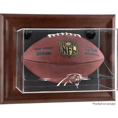 Carolina Panthers Brown Framed Wall-Mountable Football Display Case