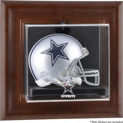 Dallas Cowboys Fanatics Authentic Brown Framed Wall-Mountable Mini Helmet Display Case