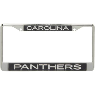 Carolina Panthers Team Silver Glitter Metal Frame - Black/White
