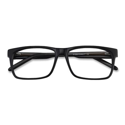 Unisex Rectangle Black Acetate Prescription eyeglasses - EyeBuydirect's Sydney