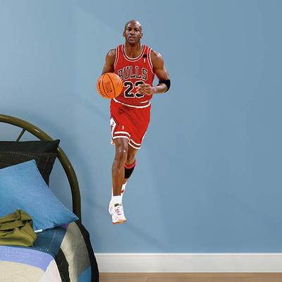 """Fathead Michael Jordan Chicago Bulls Junior Peel and Stick Wall Graphic"""