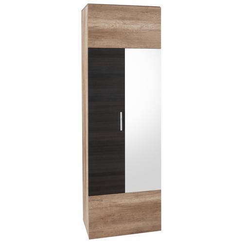 trendteam Garderobenschrank Polo, mit Spiegel braun Garderobenschränke Garderoben