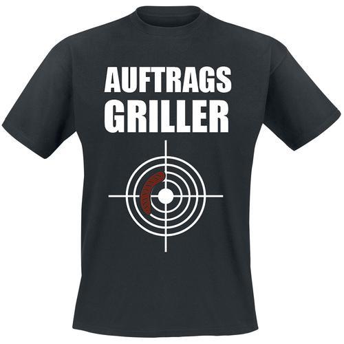 Auftragsgriller Herren-T-Shirt - schwarz