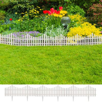 vidaXL Bordure de pelouse Blanc 17 pcs / 10 m